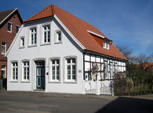 Casa que enmarca de la madera medieval alemania Quakenbrueck Fotos de archivo
