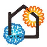 Casa que refrigera e que aquece-se ilustração royalty free