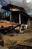 Casa queimada Imagem de Stock