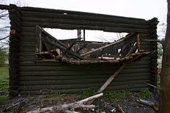 Casa queimada Fotografia de Stock