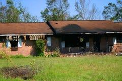 Casa quemada Foto de archivo libre de regalías