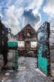 Casa quemada Fotos de archivo