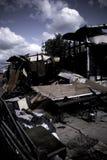 Casa quemada Foto de archivo
