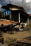Casa quemada Imagen de archivo