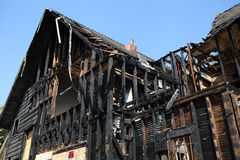 Casa quemada en Pasadena, California Imagen de archivo libre de regalías