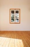 Casa rústica interior, janela pequena Imagem de Stock Royalty Free