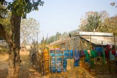Casa recentemente costruita dell'agricoltore povero in provincia di Angra Pradesh Fotografia Stock