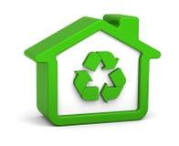 Casa reciclada Imágenes de archivo libres de regalías