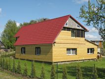 Casa reconstruída Fotografia de Stock Royalty Free