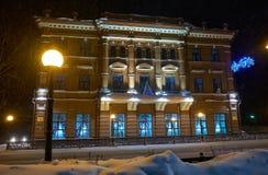 Casa rentable del comerciante Kukhterin, diseñada por el arquitecto Konstantin Lygin en la calle de Lenin Ahora en el edificio hi foto de archivo libre de regalías