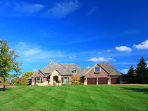 Casa residencial Fotografia de Stock Royalty Free