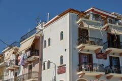 Casa residencial en la isla de Zakynthos, mar jónico, Grecia, Europ foto de archivo libre de regalías