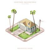 Casa residencial isométrica del vector Imágenes de archivo libres de regalías