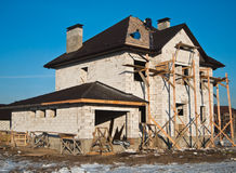 Casa residenziale in costruzione Immagini Stock Libere da Diritti