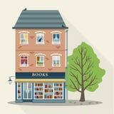 Casa retra con la tienda de libros Imagenes de archivo
