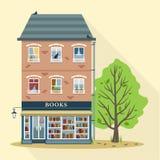 Casa retra con la tienda de libros Fotos de archivo