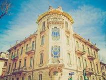 Casa retro Fleur Fenoglio do olhar, Turin foto de stock