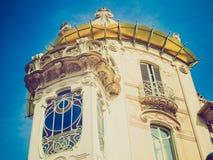 Casa retro Fleur Fenoglio do olhar, Turin imagem de stock