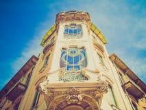 Casa retro Fleur Fenoglio do olhar, Turin fotografia de stock