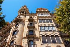 Casa Rocamora στην περιοχή Eixample στη Βαρκελώνη Στοκ Εικόνες