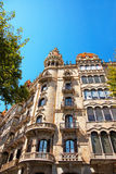 Casa Rocamora in Eixample district of Barcelona Royalty Free Stock Photos