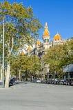 Casa Rocanova i Barcelona royaltyfria bilder