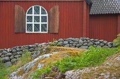 Casa roja Fotos de archivo libres de regalías