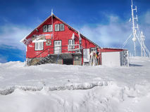 Casa roja fotos de archivo