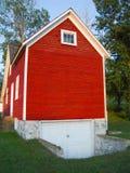 Casa roja de la granja imagenes de archivo