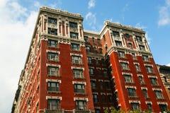 Casa roja en Nueva York Fotografía de archivo libre de regalías