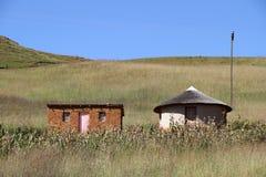 Casa roja oxidada del tejado Foto de archivo libre de regalías