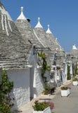 Casa romántica meridional de la choza de la cabaña de Alberobello Trulli Trullo Apulia Italia imágenes de archivo libres de regalías