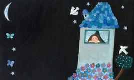 Casa romântica ilustração stock