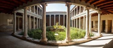 Casa Romana, Kos, Grekland Arkivbilder