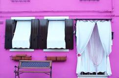 Casa rosa Immagine Stock