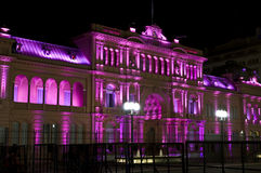 Casa Rosada Argentina. La Casa Rosada (English: The Pink House) in a night shot. This is the executive mansion and office of the President of Argentina stock photos