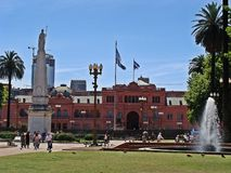 The Casa Rosada, Argentina stock photos