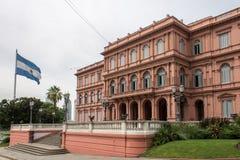 Casa Rosada Boczny Fasadowy Argentyna Obraz Royalty Free