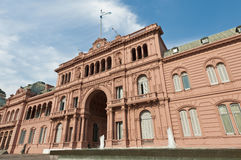 Casa Rosada at Buenos Aires. Casa Rosada building facade located at Mayo square Stock Image