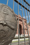 Casa Rosada at Buenos Aires. Casa Rosada building facade located at Mayo square Royalty Free Stock Photos