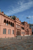 Casa Rosada in Buenos Aires, Argentina. The Casa Rosada on the Plaza de Mayo is Argentina's Presidential palace. It is from its balconeys that Evita has Royalty Free Stock Photos
