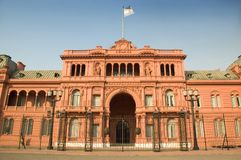 Casa Rosada, Buenos Aires, Argentina. The Casa Rosada (Pink House), the presidential palace of Argentina, located in central Buenos Aires Stock Images