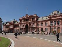 Casa Rosada, Buenos Aires. Buenos Aires, Argentina  - 19th October 2015: Casa Rosada, presidential home Royalty Free Stock Photography