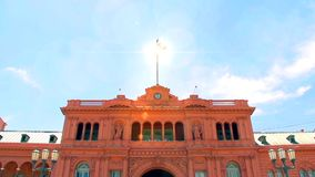 The Casa Rosada of Buenos Aires (Pink House) stock video