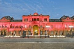 Casa Rosada building at Buenos Aires, Argentina. Casa Rosada building facade located at Mayo square Stock Photography