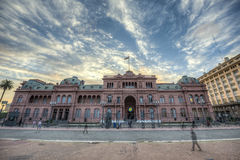 Casa Rosada building in Buenos Aires, Argentina. Royalty Free Stock Image