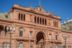Casa Rosada building in Buenos Aires, Argentina. Stock Photography