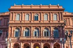Casa Rosada building in Buenos Aires, Argentina. Royalty Free Stock Photos