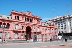 Casa Rosada (det rosa huset) Royaltyfri Bild