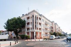 Casa rosada en Batumi Fotografía de archivo libre de regalías
